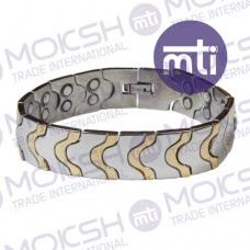 Stainless Steel Double Line Magnetic Bracelet - 002