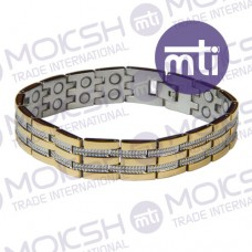 Stainless Steel Double Line Magnetic Bracelet - 005