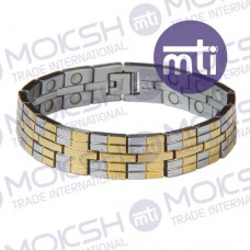 Stainless Steel Double Line Magnetic Bracelet - 007
