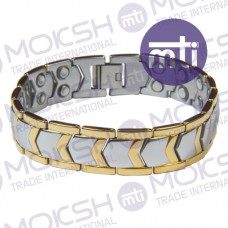 Stainless Steel Double Line Magnetic Bracelet - 009